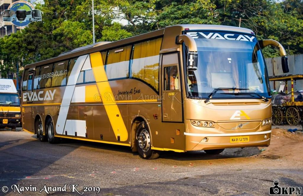 Evacay Bus Bengaluru Bangalore Trivandrum AC Semi Sleeper Service B11R